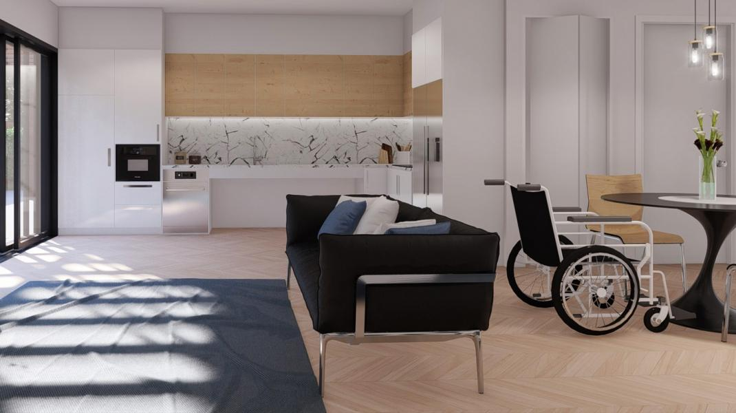 Artists impression of new villa, interior